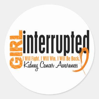 Girl Interrupted 1 Kidney Cancer Round Stickers