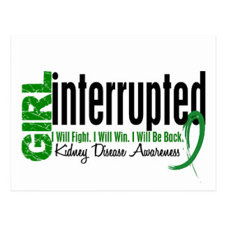 Girl Interrupted 1 Kidney Disease Postcard