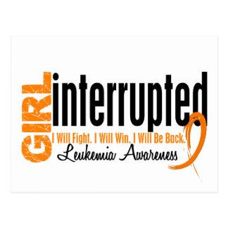 Girl Interrupted 1 Leukemia Postcard