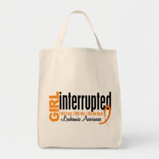 Girl Interrupted 1 Leukemia Tote Bag