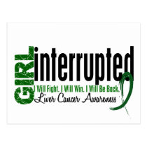 Girl Interrupted 1 Liver Cancer Postcard