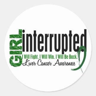 Girl Interrupted 1 Liver Cancer Round Sticker