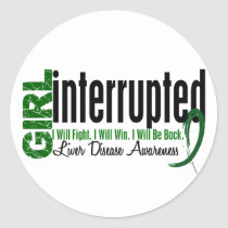 Girl Interrupted 1 Liver Disease Classic Round Sticker