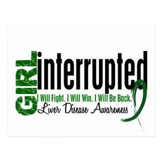 Girl Interrupted 1 Liver Disease Postcard