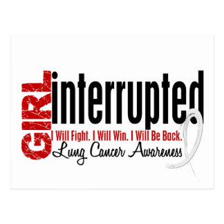 Girl Interrupted 1 Lung Cancer Postcard