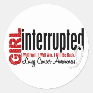 Girl Interrupted 1 Lung Cancer Round Sticker