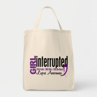 Girl Interrupted 1 Lupus Canvas Bags