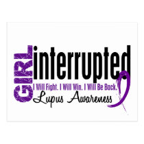 Girl Interrupted 1 Lupus Postcard