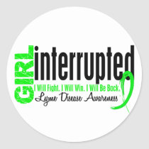 Girl Interrupted 1 Lyme Disease Classic Round Sticker
