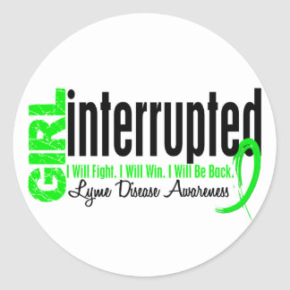 Girl Interrupted 1 Lyme Disease Sticker