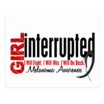 Girl Interrupted 1 Melanoma Postcard