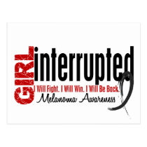 Girl Interrupted 1 Melanoma Postcard
