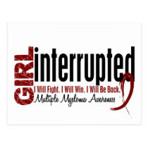 Girl Interrupted 1 Multiple Myeloma Postcard