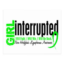 Girl Interrupted 1 Non-Hodgkin's Lymphoma Postcard