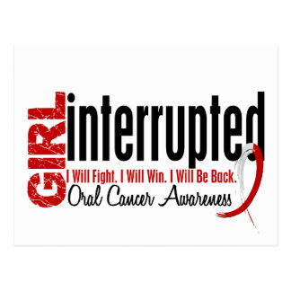 Girl Interrupted 1 Oral Cancer Postcard