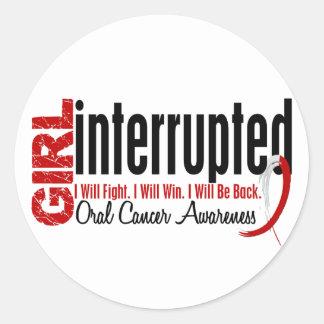 Girl Interrupted 1 Oral Cancer Round Stickers