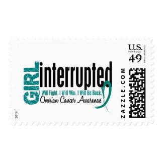 Girl Interrupted 1 Ovarian Cancer Postage Stamps