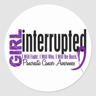 Girl Interrupted 1 Pancreatic Cancer Round Stickers