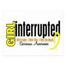 Girl Interrupted 1 Sarcoma Postcard