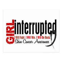 Girl Interrupted 1 Skin Cancer Postcard