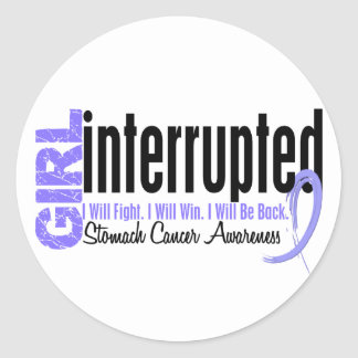 Girl Interrupted 1 Stomach Cancer Stickers
