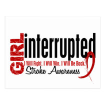 Girl Interrupted 1 Stroke Postcard