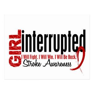 Girl Interrupted 1 Stroke Postcard