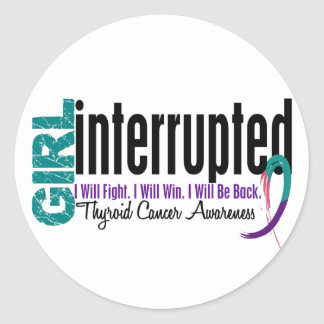 Girl Interrupted 1 Thyroid Cancer Stickers