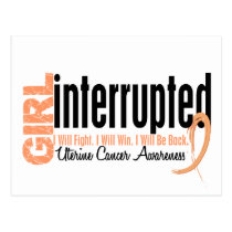 Girl Interrupted 1 Uterine Cancer Postcard