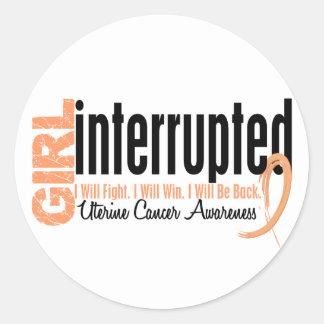 Girl Interrupted 1 Uterine Cancer Sticker