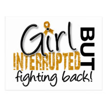 Girl Interrupted 2 Appendix Cancer Postcard