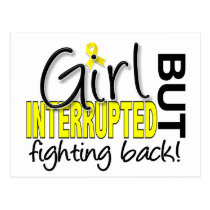 Girl Interrupted 2 Bladder Cancer Postcard