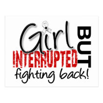 Girl Interrupted 2 Bone Cancer Postcard