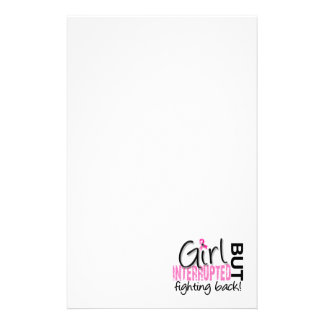 Girl Interrupted 2 Breast Cancer Customized Stationery