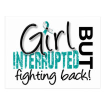 Girl Interrupted 2 Cervical Cancer Postcard