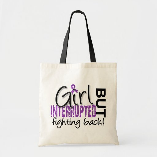 Girl Interrupted 2 Fibromyalgia Canvas Bags