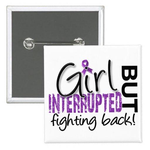 Girl Interrupted 2 Fibromyalgia Pinback Buttons