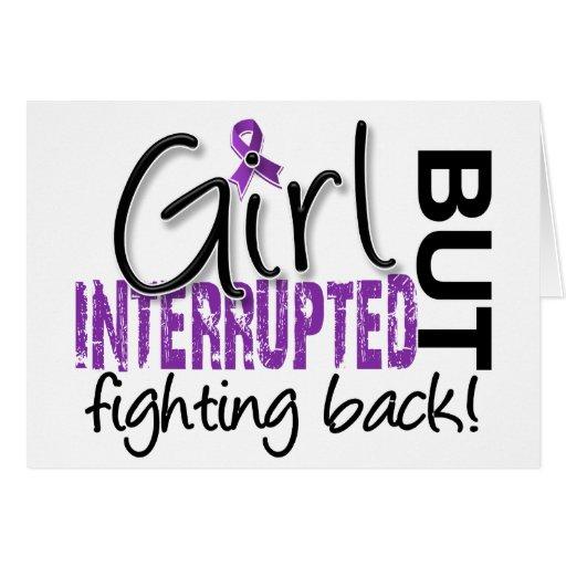 Girl Interrupted 2 Fibromyalgia Greeting Card