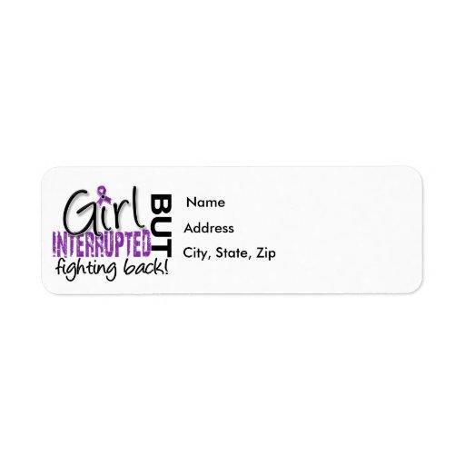 Girl Interrupted 2 Fibromyalgia Custom Return Address Label