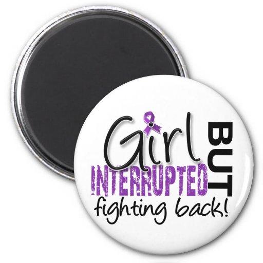 Girl Interrupted 2 Fibromyalgia Fridge Magnets