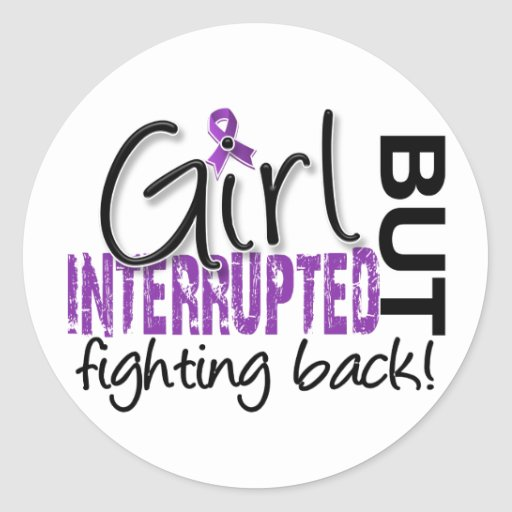 Girl Interrupted 2 Fibromyalgia Round Stickers