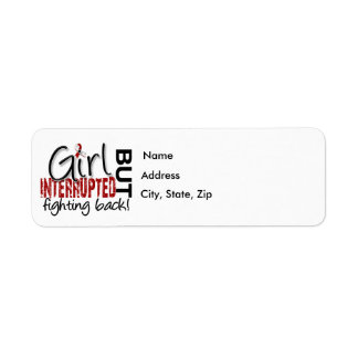 Girl Interrupted 2 Head and Neck Cancer Label
