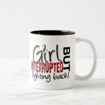 Girl Interrupted 2 Head and Neck Cancer Two-Tone Coffee Mug