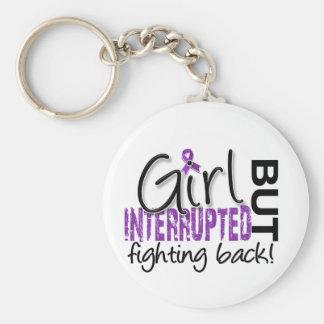 Girl Interrupted 2 Lupus Basic Round Button Keychain