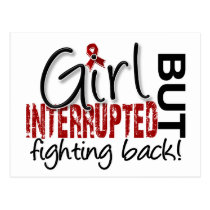 Girl Interrupted 2 Multiple Myeloma Postcard