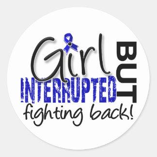 Girl Interrupted 2 Rheumatoid Arthritis Classic Round Sticker
