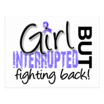 Girl Interrupted 2 Stomach Cancer Postcard