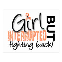 Girl Interrupted 2 Uterine Cancer Postcard