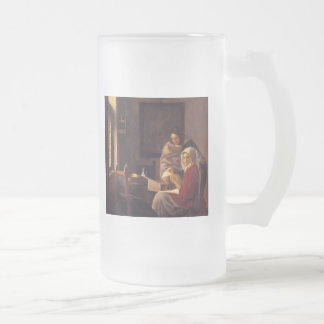 Girl Interrupted at Her Music Frosted Glass Beer Mug