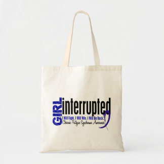 Girl Interrupted CFS Chronic Fatigue Syndrome Tote Bag